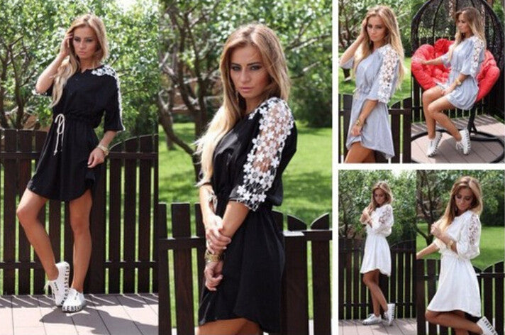 Fashion Lace Casual Dresses
