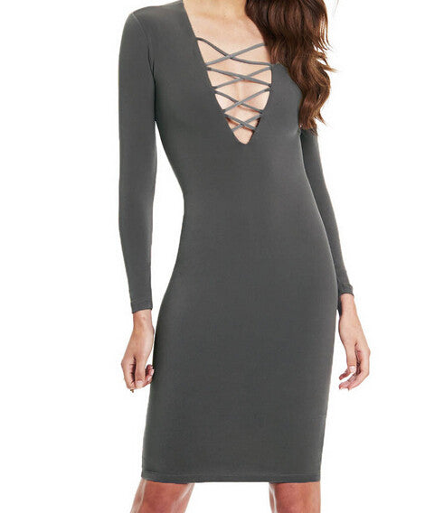 Sexy hollow out  tight dress