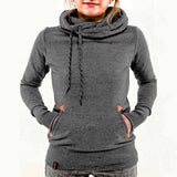 Fashion embroidery hooded sweater