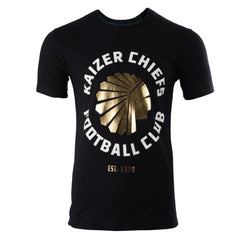 KAIZER CHIEFS GOLD FOIL PRINTED T-SHIRT
