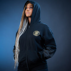 KAIZER CHIEFS LADIES 50th FRONT ZIP HOODIE