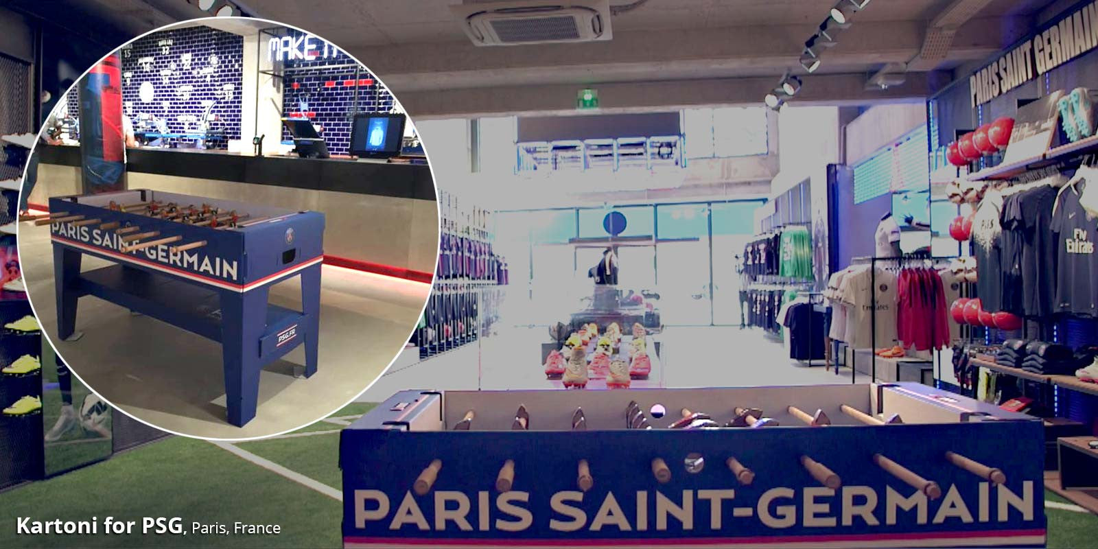 Kartoni foosball table for PSG!