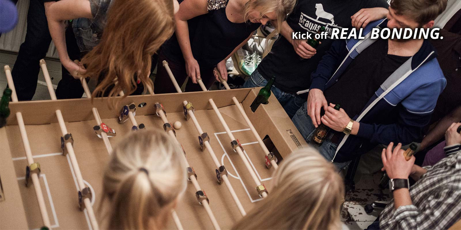 Kick off real bonding with Kartoni foosball table.