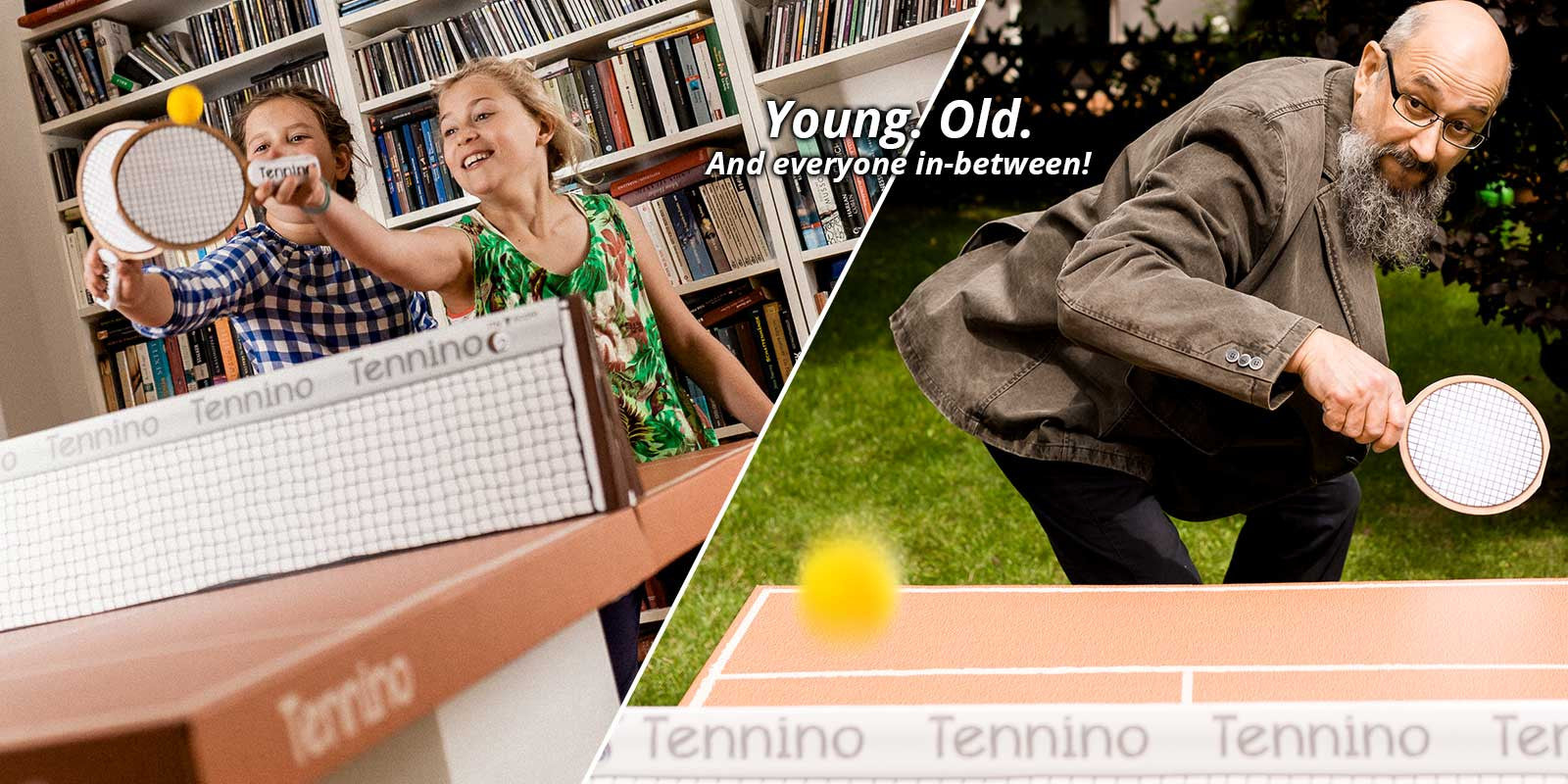 Tennino table tennis for young, old and everyone in-between!