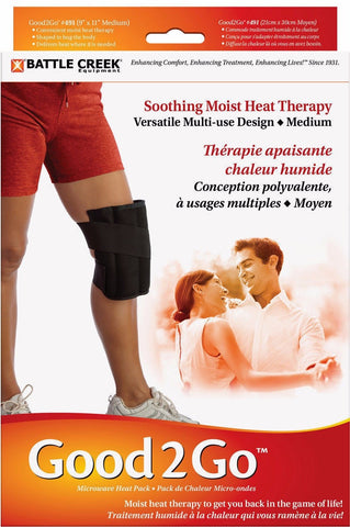 Battle Creek Heat Therapy Good2Go 491 Microwave Moist Heat Pack - Knee Medium 9 x 12