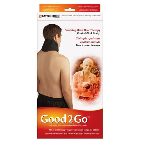 Battle Creek Heat Therapy Good2Go 492 Microwave Moist Heat Pack for Neck Cervical 5 x16