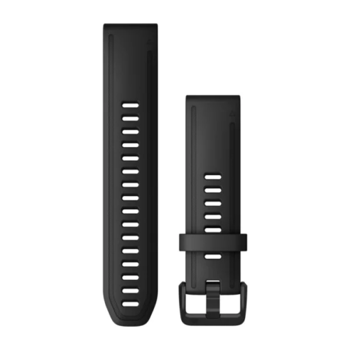 Garmin Garmin Accessories Black Silicone Garmin QuickFit 20 Watch Bands for Garmin Fenix 6s