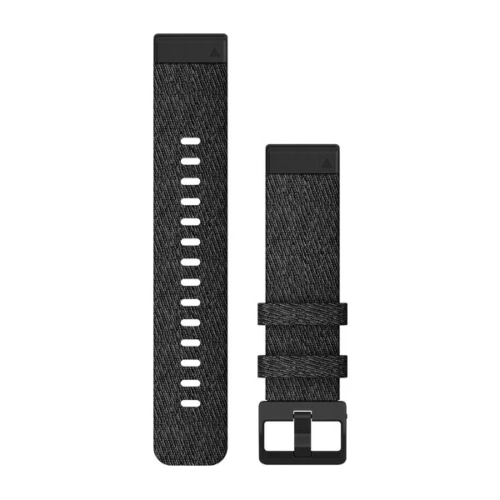 Garmin Garmin Accessories Heathered Black Nylon Garmin QuickFit 20 Watch Bands for Garmin Fenix 6s