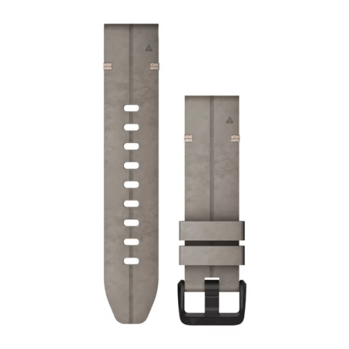 Garmin Garmin Accessories Shale Gray Suede Leather Garmin QuickFit 20 Watch Bands for Garmin Fenix 6s