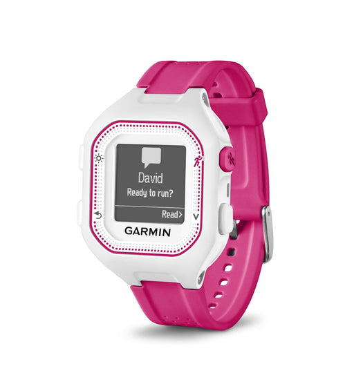 Garmin Running Watches White/Pink Copy of Garmin Forerunner 25 GPS Running Watch Factory Renewed