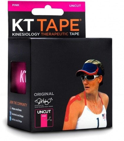 KT Tape Sports Therapy KT Tape Cotton Single Roll Pink Uncut 16 Feet