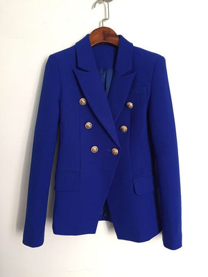 Gold Hardware Blazer - Blue