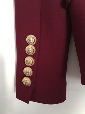Gold Hardware Blazer - Berry