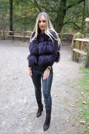 Raccoon Gilet Deep Purple
