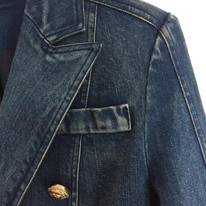 Denim Jacket Gold Buttons