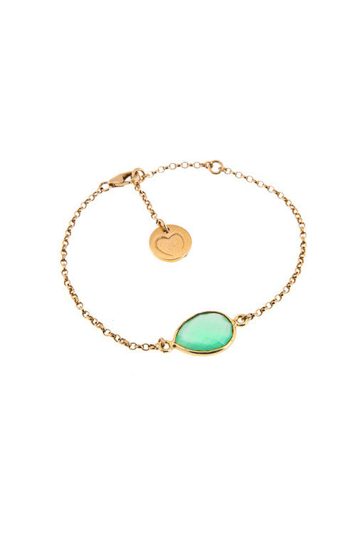 Chain Bracelet - Green and Gold
