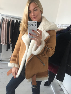 Shearling tan jacket