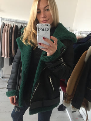 Shearling Jacket Black/Green