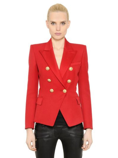 Red Blazer with Gold Hardware