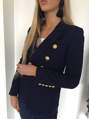 Gold Hardware Blazer - Navy