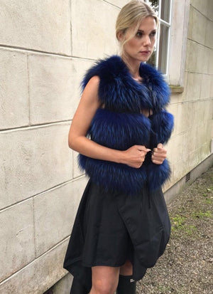 Raccoon Gilet Blue