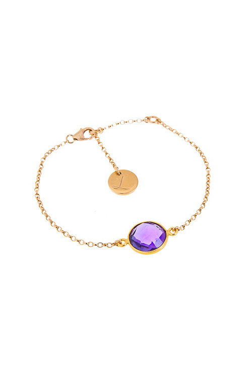 Chain Bracelet - Purple and Gold