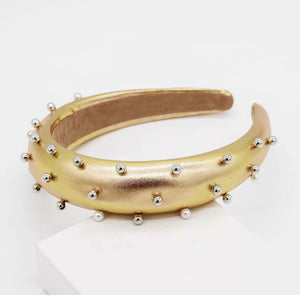 LEATHER PEARL CROWN