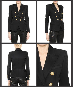 Gold Hardware Blazer - Black
