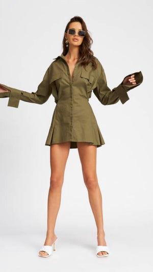 Cover Girl Mini Dress - Sage