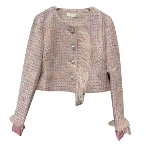 TWEED FEATHER BLAZER