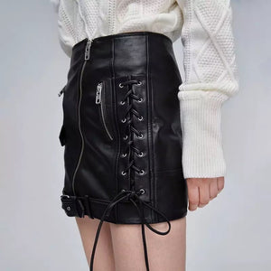 Lace Up Leather