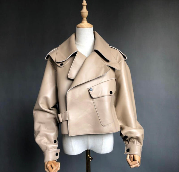 MALA LEATHER JACKET - TAN