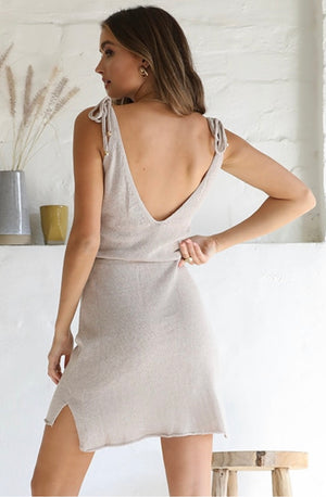 Ellie Knit Dress - Oatmeal