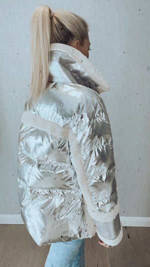 FOIL FUR TRIM JACKET