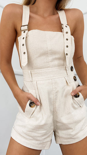 CLARISSA PLAYSUIT SAND