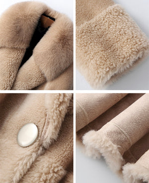 LUX WOOL COAT WITH COLLAR