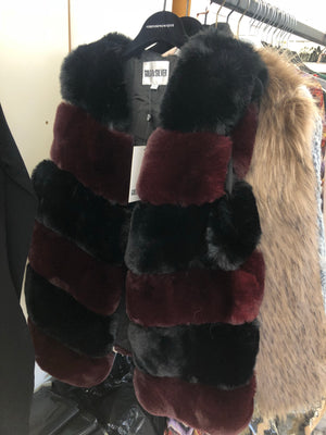 Striped Fur Gilet