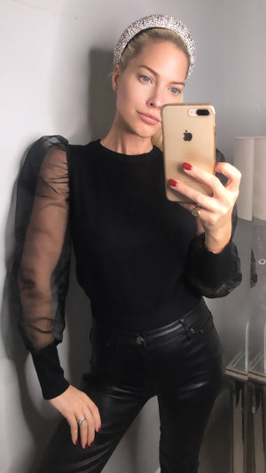 Sheer Sleeve Top