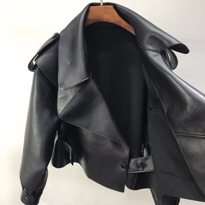 MALA LEATHER JACKET - BLACK