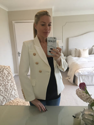 Gold Hardware Blazer - Cream