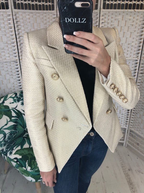 Gold Tweed Blazer