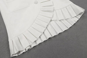 FRILL BLAZER DRESS WHITE