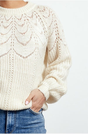 White Wool Blend Jumper
