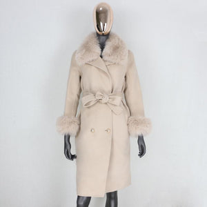 THE CASHMERE & WOOL COAT WITH COLLAR & CUFFS
