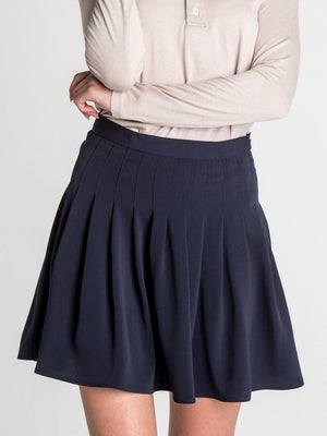 Vandercamp Navy Mini Skirt