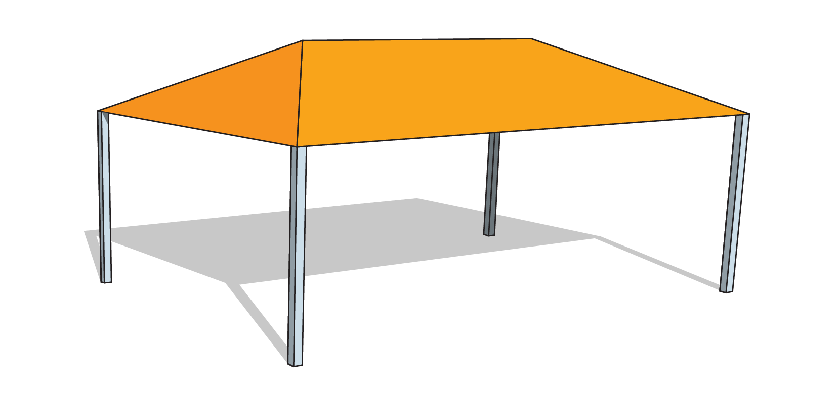 Hs 2030 Hip Shade Structure Financed Tenshon
