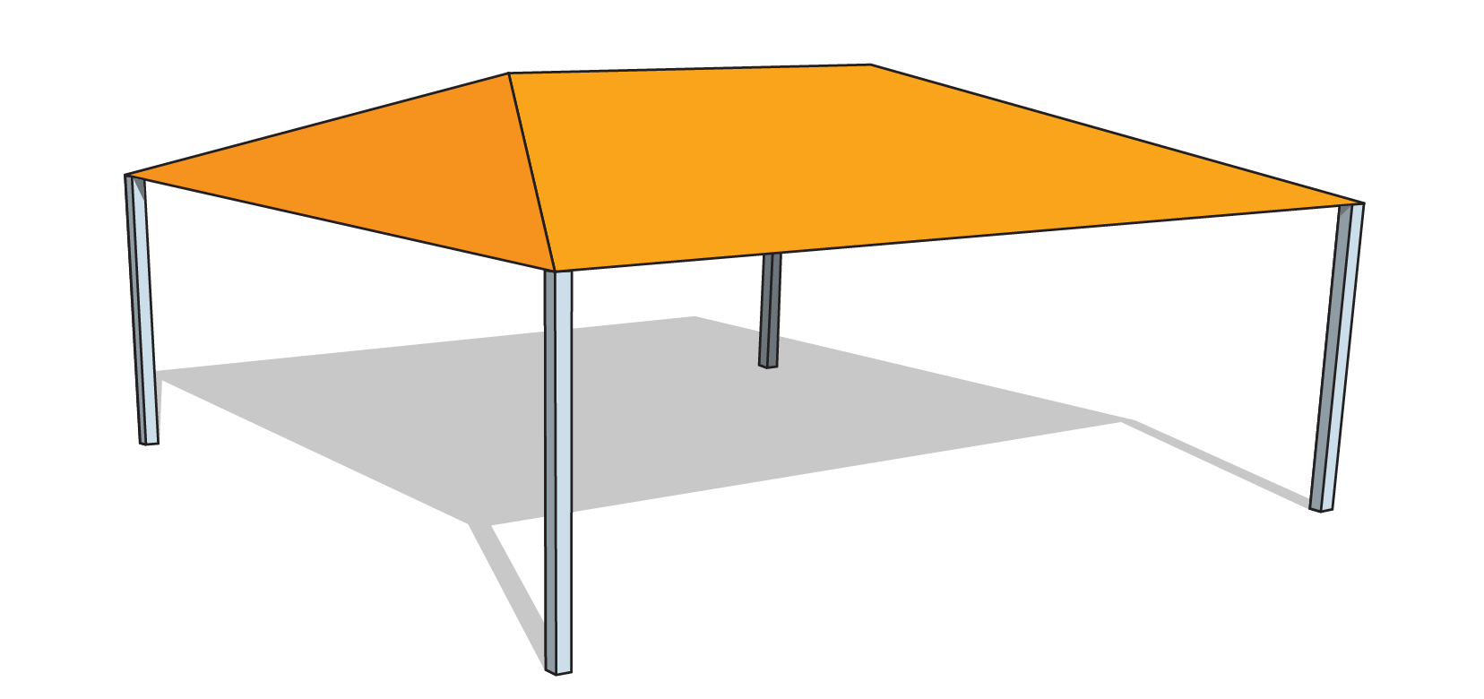 Hs 3030 Hip Shade Structure Financed Tenshon