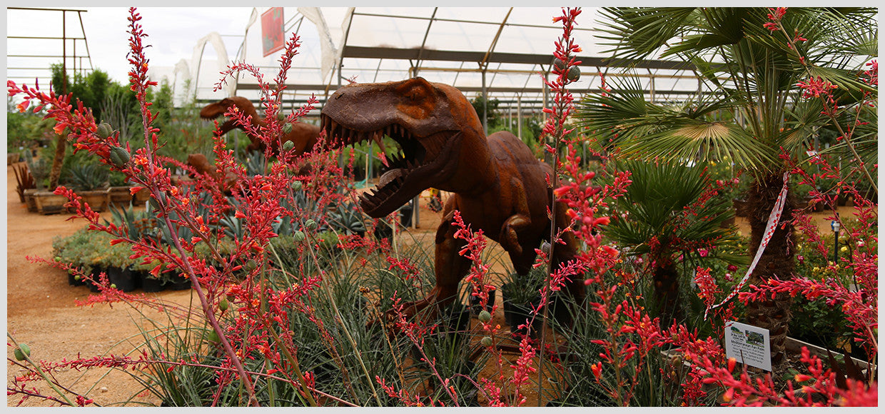 Desert Horizon Nursery Shade Panel and Metal Tyrannosaurus Rex