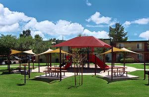Large Hip Shade Structure and Shade Sails