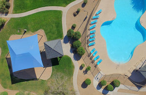 Large Hip Shade Structure and Swimming Pool